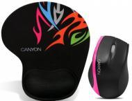 Мышь Canyon CNR-MSPACK4 Black\Pink