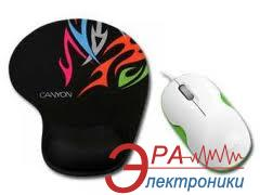 Мышь Canyon CNR-MSPACK5 White\Green