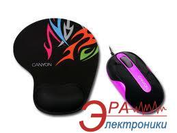 Мышь Canyon CNR-MSPACK6 Black\Pink