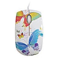 Мышь Lapara MS-911 White\Blue\Red Butterfly