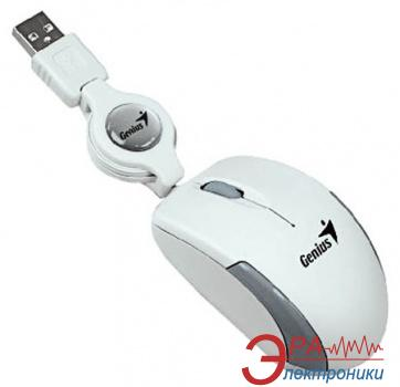 Мышь Genius Micro Traveler USB (31010100104) White