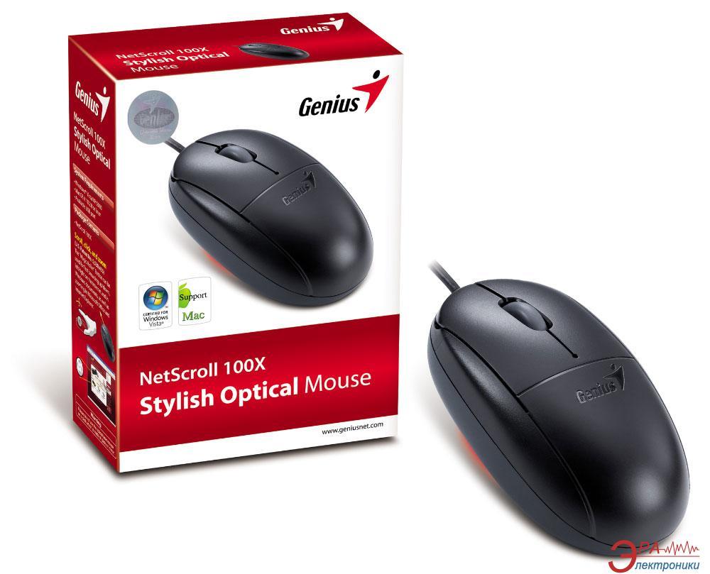 Мышь Genius NetScroll 100X USB (31010566100) Black