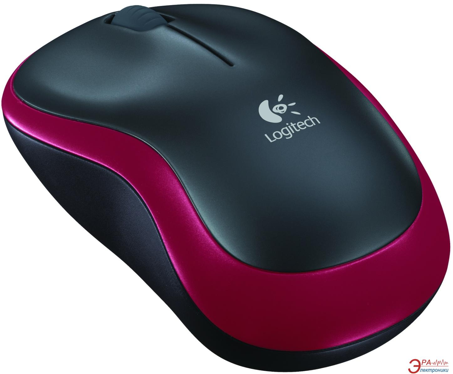 Мышь Logitech M185 WL (910-002240) Red