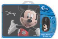 Комплект (мышь+коврик) Cirkuit Planet Mouse + Mouse Pad Disney Mickey 3D (DSY-TP3004) Black