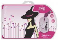 Комплект (мышь+коврик) Cirkuit Planet Mouse + Mouse Pad Female (CPL-TP1913) White\Pink