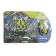 Комплект (мышь+коврик) Cirkuit Planet Mouse + Mouse Pad Love&Hate (CPL-TP1930) Black\Green