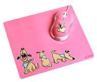 Комплект (мышь+коврик) Acme MN06 USB + коврик Dogs (4770070865743) Pink