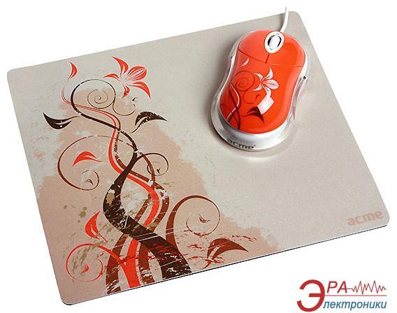 Комплект (мышь+коврик) Acme MN06 USB + коврик Spray (4770070865750) Orange