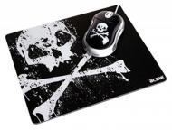 Комплект (мышь+коврик) Acme MN06 USB + коврик Skull (4770070865736) Black