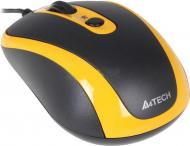 Мышь A4 Tech N-250X-3 Black\Yellow