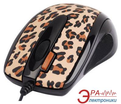 Мышь A4 Tech G-CUBE GOL-73BF Leopard Golden
