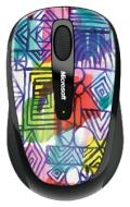 Мышь Microsoft 3500 Wireless Mobile Mouse Artist Mike Perry - Design 2 (GMF-00154)
