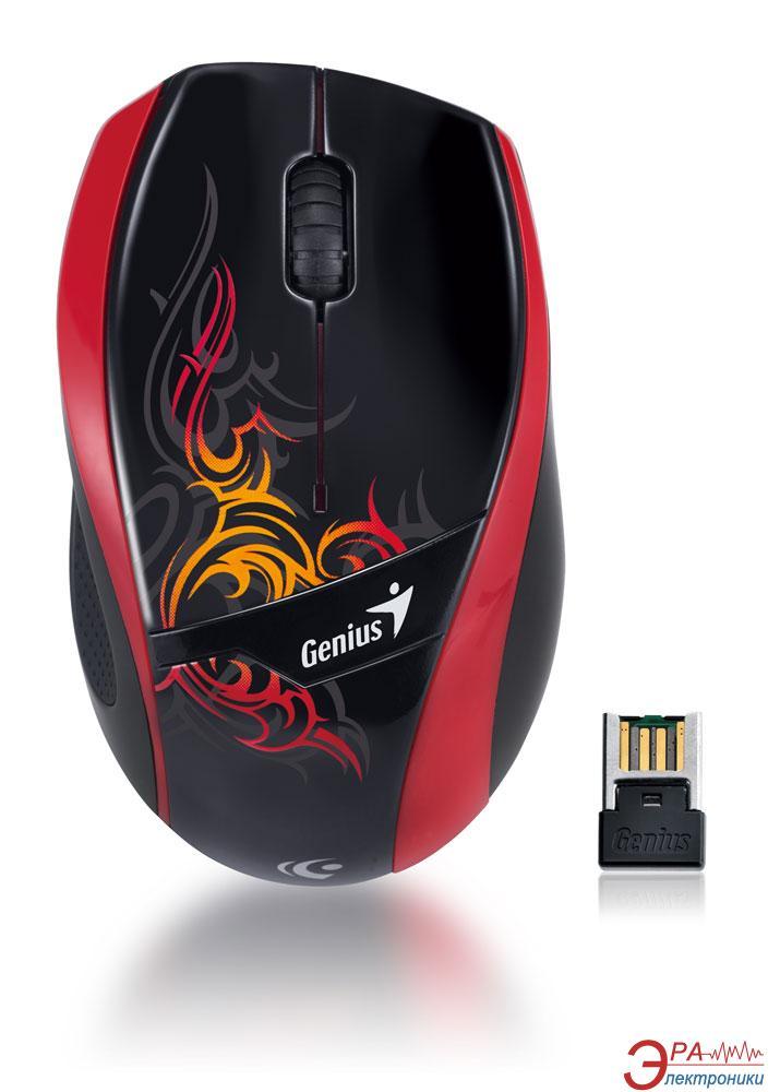 Мышь Genius DX-7010 Tattoo WL (31030074108) Black\Red