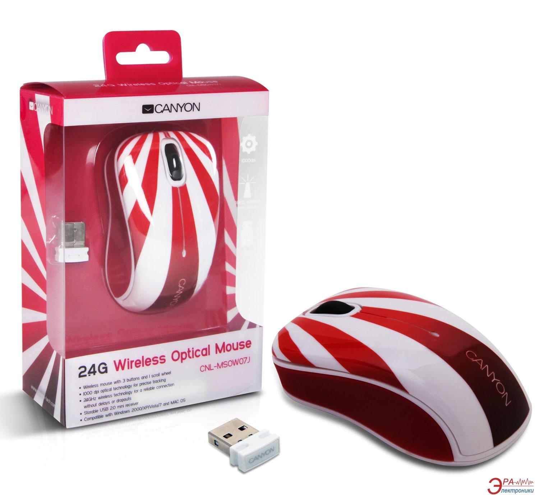 Мышь Canyon CNL-MSOW07J Wireless Rising Sun White