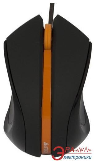 Мышь A4 Tech D-310-3 Holeless Black\Orange