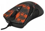 Игровая мышь A4 Tech F7 Red Snake coating Black