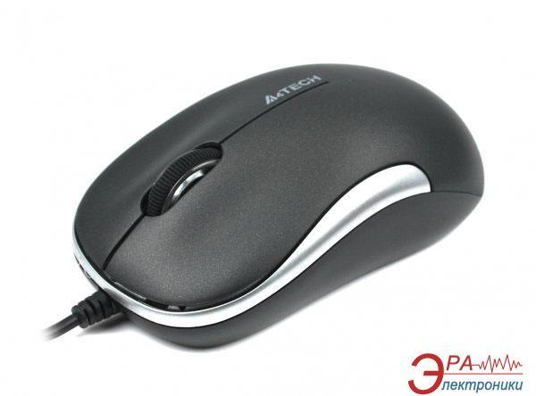 Мышь A4 Tech D-330-2 Holeless Black\Silver