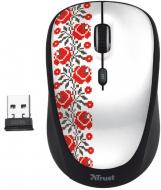 Мышь Trust Yvi Wireless Mouse Ukrainian style - flower (20286)