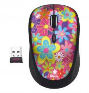 Мышь Trust Yvi Wireless Mouse flower power (20250) Pink