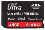 Карта памяти Sandisk 8Gb Memory Stick Pro Duo Ultra (SDMSPDH-008G-U46)