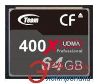 Карта памяти Team 64Gb Compact Flash 400x (TCF64G40001)