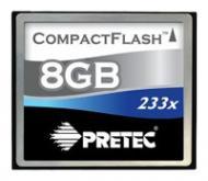 Карта памяти Pretec 8Gb Compact Flash 233x (CFS208G)