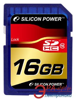 Карта памяти Silicon Power 16Gb SD Class 10 (SP016GBSDH010V10)