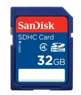 Карта памяти Sandisk 32Gb SD Class 4 (SDSDB-032G-B35)
