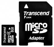 Карта памяти Transcend 8Gb microSD Class 4 + SD адаптер (TS8GUSDHC4)