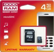 Карта памяти Goodram 4Gb microSD Class 10 + adapter SD