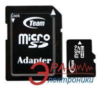 Карта памяти Team 8Gb microSD Class 4 + адаптер на SD (TUSDH8GCL403)