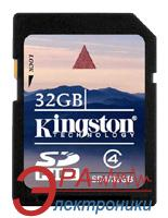Карта памяти Kingston 32Gb SD Class 4 (SD4/32GB)