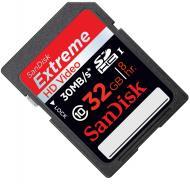 Карта памяти Sandisk 32Gb SD Class 10 200x HD Video eXtreme (SDSDX-032G-X46)