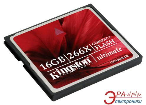 Карта памяти Kingston 16Gb Compact Flash 266x (CF/16GB-U2)