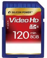 Карта памяти Silicon Power 8Gb SD Class 6 FULL HD