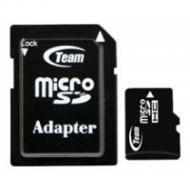 Карта памяти Team 4Gb microSD Class 4 +adapter (TUSDH4GCL403)