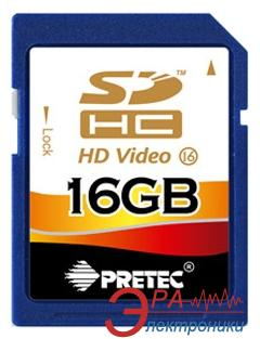 Карта памяти Pretec 16Gb SD Class 16 FULL HD Video (SHS316G)