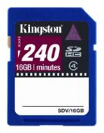 Карта памяти Kingston 16Gb SD Class 4 Video Card (SDV/16GB)