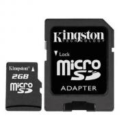 Карта памяти Kingston 2Gb microSD + SD adapter (SDC/2GB)