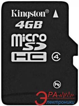 Карта памяти Kingston 4Gb microSD Class 4 (SDC4/4GBSP)