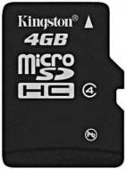 ����� ������ Kingston 4Gb microSD Class 4 (SDC4/4GBSP)
