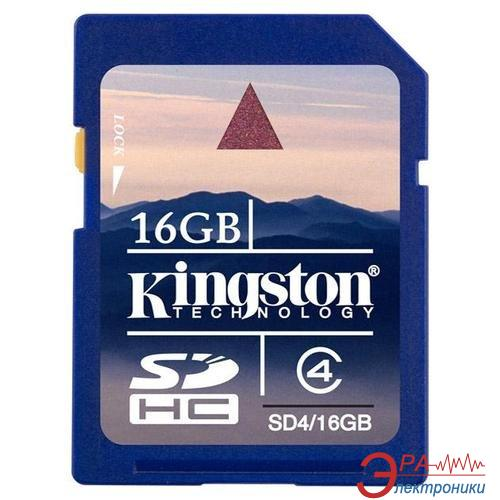 Карта памяти Kingston 16Gb SD Class 4 (SD4/16GB)