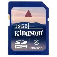 Карта памяти Kingston 16Gb SD Class 4 (SD4/16GB)