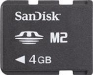 Карта памяти Sandisk 4Gb M2 (SDMSM2-004G-E11M)