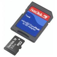 ����� ������ Sandisk 2Gb microSD + SD ������� (SDSDQB-2048-E11)