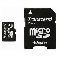 Карта памяти Transcend 8Gb microSD Class 6 + SD адаптер (TS8GUSDHC6)