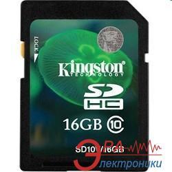 Карта памяти Kingston 16Gb SD Class 10 (SD10V/16GB)