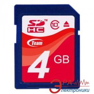 Карта памяти Team 4Gb SD Class 10 (TG004G0SD28X)