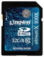 Карта памяти Kingston 32Gb SD Class 10 Gen.2 (SD10G2/32GB)