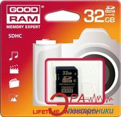 Карта памяти Goodram 32Gb SD Class 10 (SDC32GHC10PGRR9)